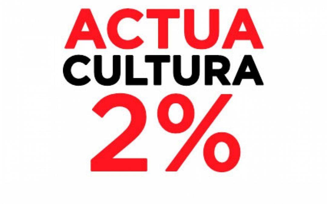 Premi Cultura per a la plataforma Actua Cultura 2%